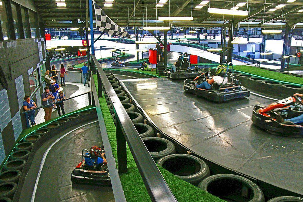 Slideways Go Karting Is An Epic European Style Multi Level Indoor Kart Track That Features 425m Of Adrenalin Pumping Act Karting Go Kart Tracks Indoor Go Karts