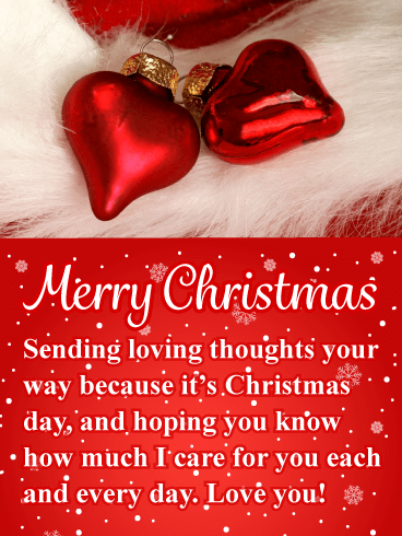 Red heart ornaments romantic merry christmas card if you are red heart ornaments romantic merry christmas card if you are looking for a truly romantic christmas card you have just found it m4hsunfo