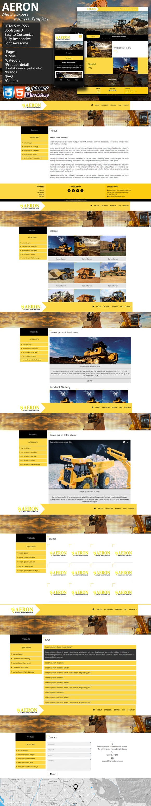 Aeron Multipurpose Business Template. Bootstrap Themes. $10.00 ...