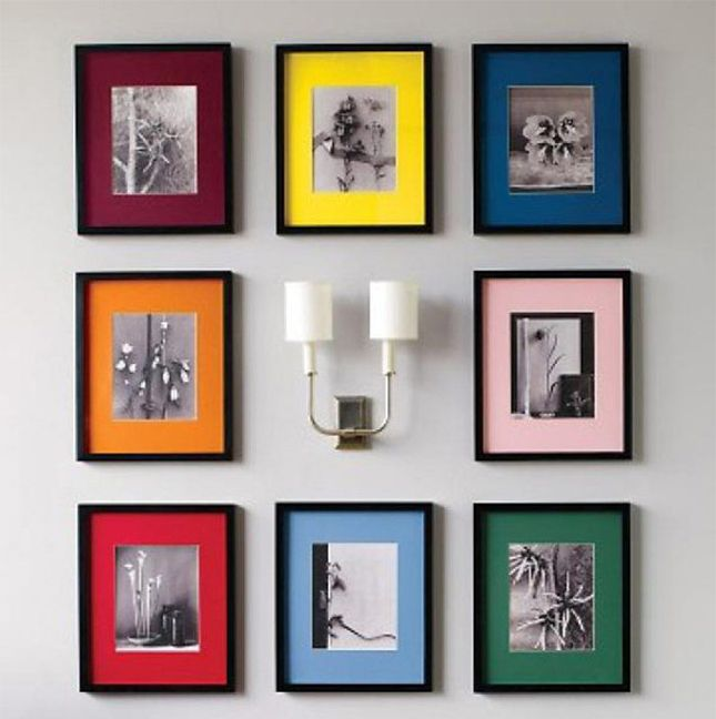Add pops of color to your black and white prints with bold matting display family photosbest