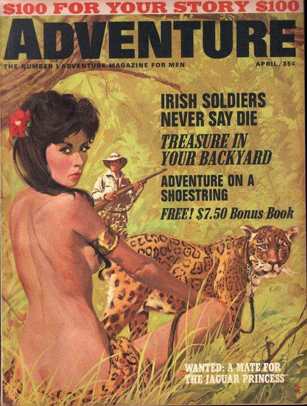 Adventure April 1965  Roger Kastel Cover art