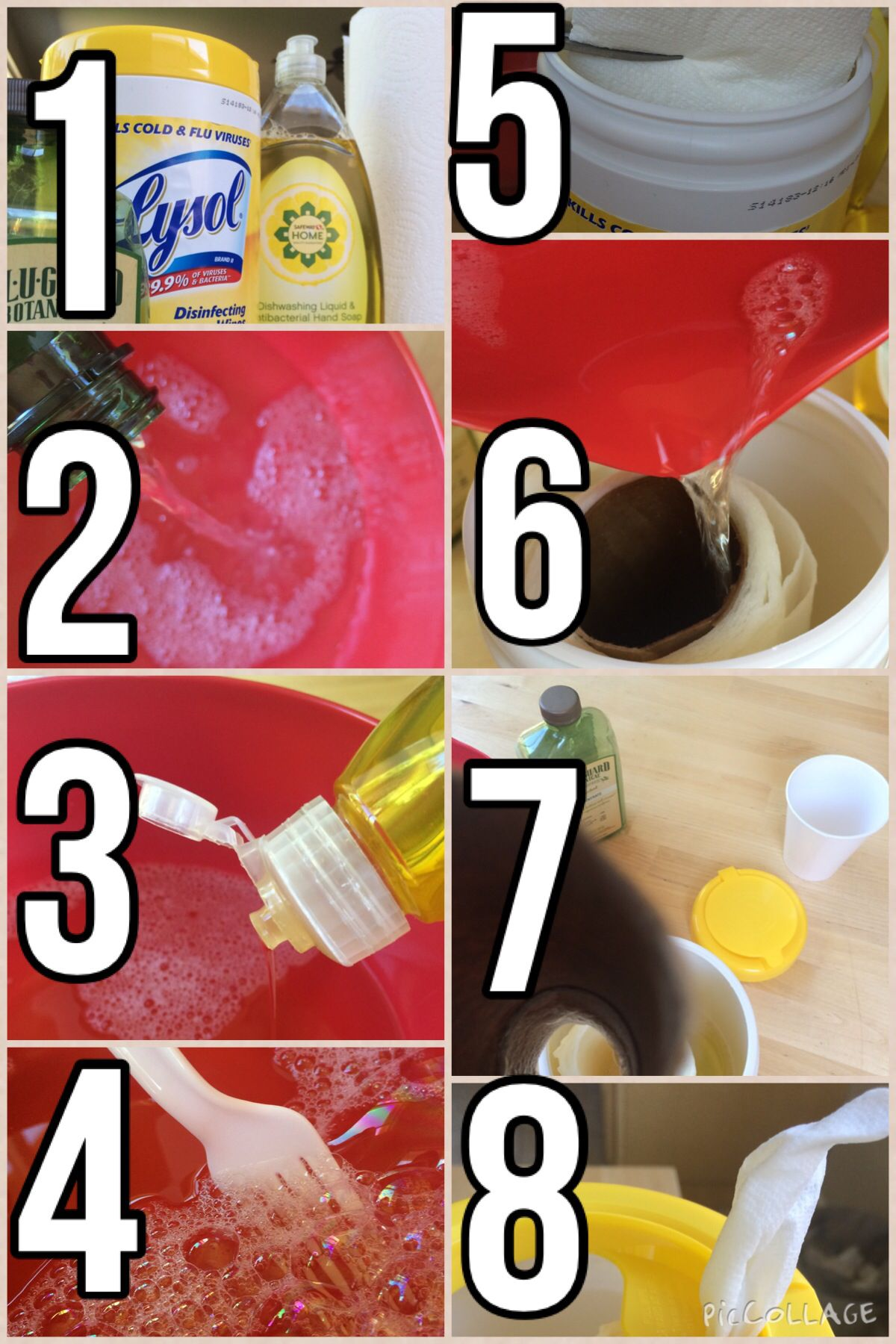 Diy Clorox/ Disinfecting Wipes Mix dish soap and a anti