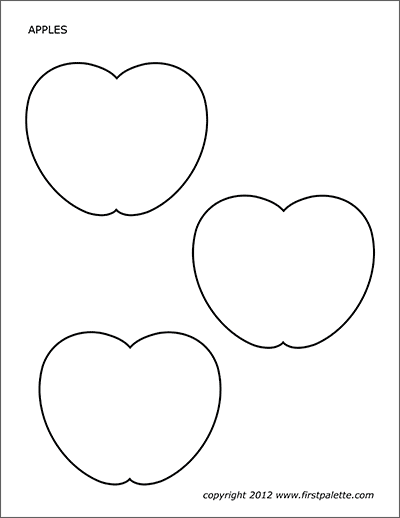 Apples Free Printable Templates Coloring Pages Firstpalette Com Apple Coloring Pages Apple Template Templates Printable Free