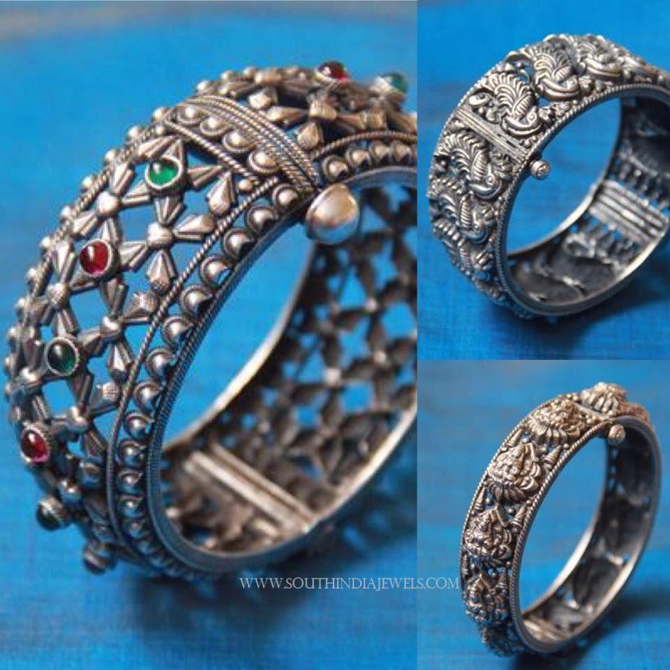 Silver Kada Bangles From Aatman Silver Jewellery Silver Jewelry