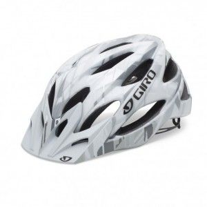 Giro Xar Helmet Matte White Grey Bars Closeout Mountain Bike Helmets Helmet Giro