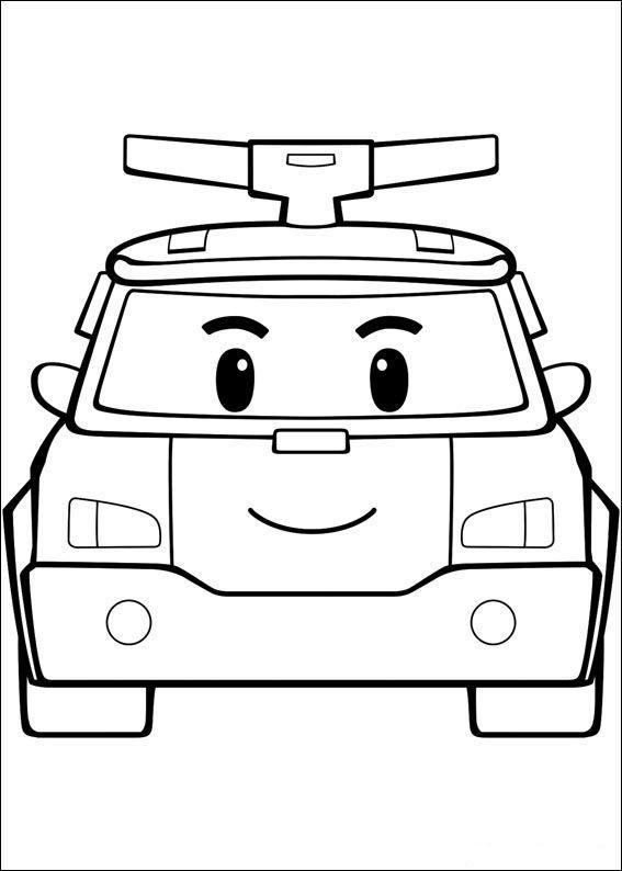 Robocar Poly Fargelegging Tegninger 1 Robocar Poli Superhero Coloring Cars Coloring Pages