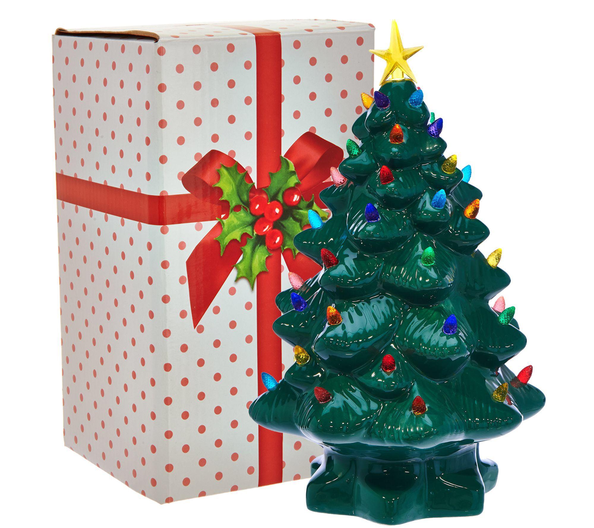 Mr Christmas 14 Nostalgic Tabletop Tree W Super Bright