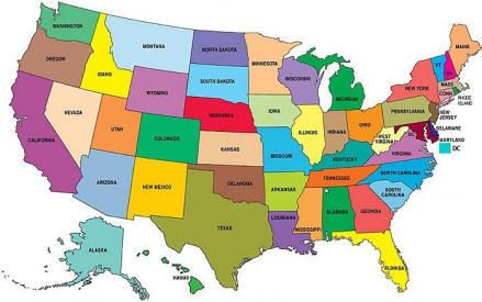 Printable Map Of Usa With States Names Also Comes In Color But - Map of us kids