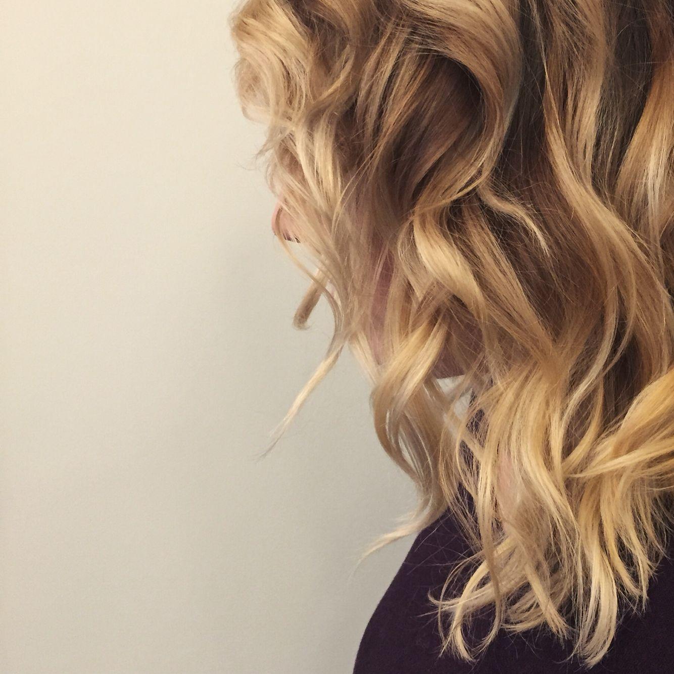 By Hollylikeshair In Portland Or At Blueprint Modern Hair Lob Bob Longbob Beach Waves Balayage Blonde H Modern Hairstyles Long Hair Styles Hair Styles