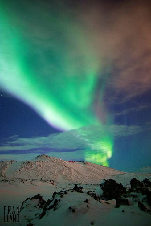 Reykjanes Winter Lights, Iceland. photo: Fran Llano.