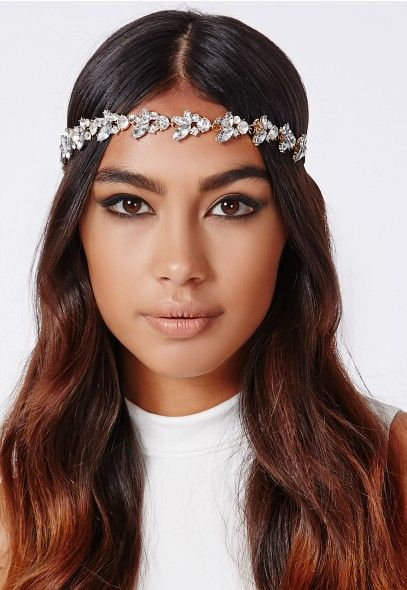 21773e6c336f9 Zoey Floral Embellished Headband Silver - Accessories - Missguided ...