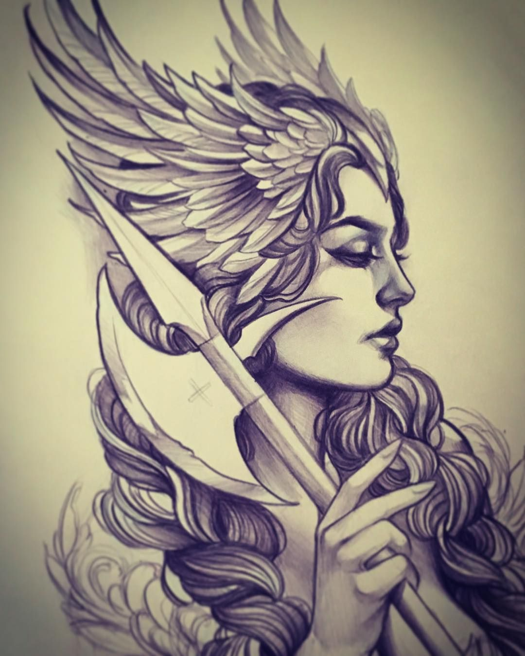 way too excited about this valkyrie piece i get to do soon by jillian wefald old pinterest. Black Bedroom Furniture Sets. Home Design Ideas