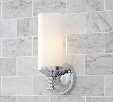 Chrome Bathroom Sconces mercer single tube sconce, set of 2, chrome | *bath > sconces