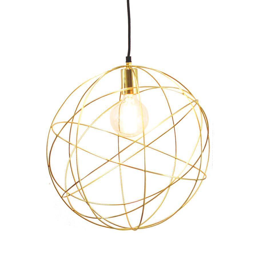 Gold Br Globe Ceiling Pendant Light Orb Chandelier