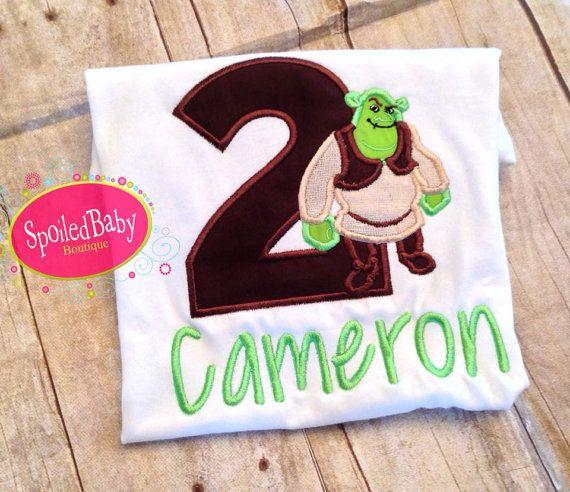 3d39fcae0 Shrek inspired custom birthday shirt by spoiledbabyboutique, $25.00 ...