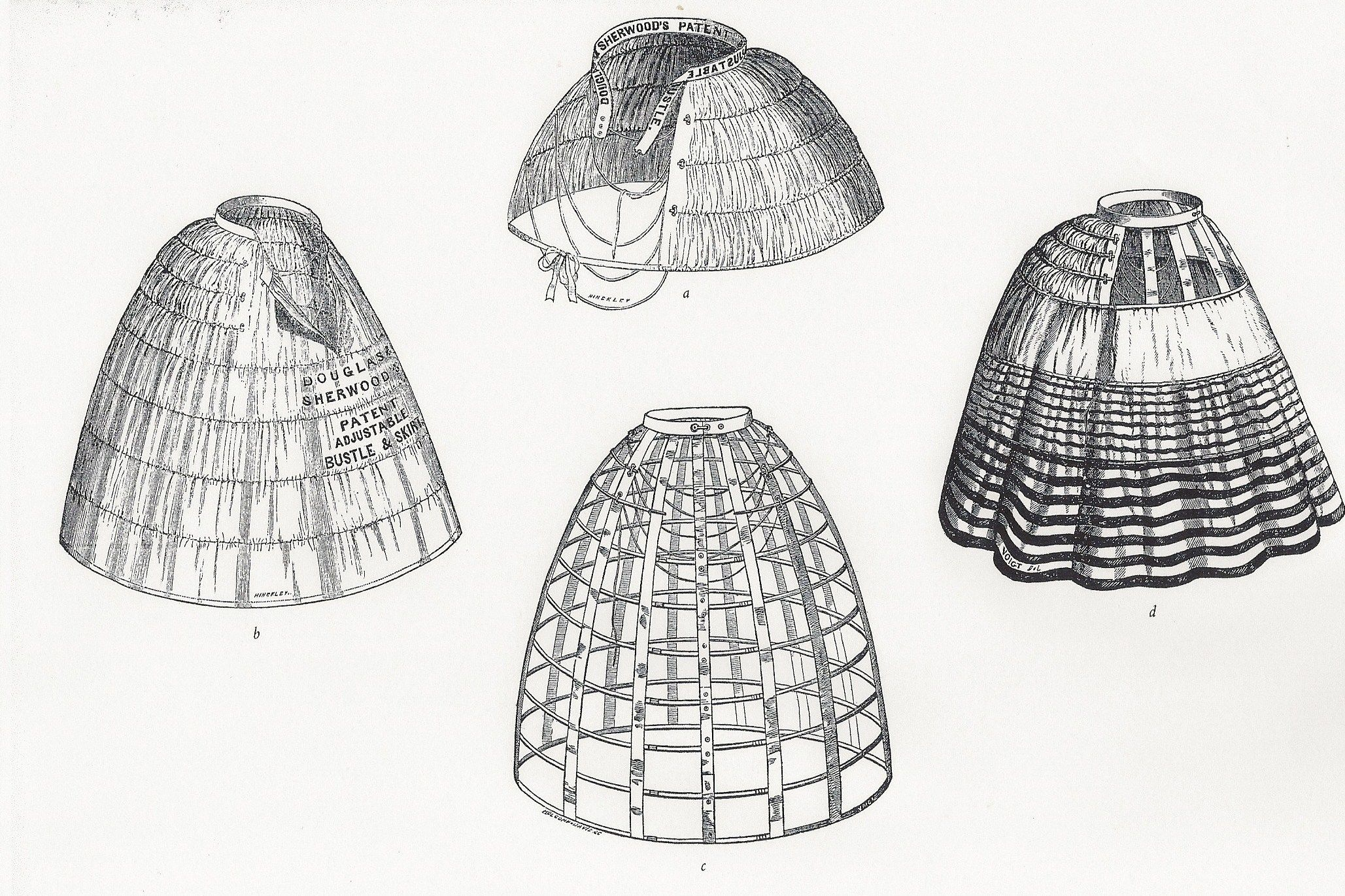 Examples Of Hoop Skirts That Were Used During The