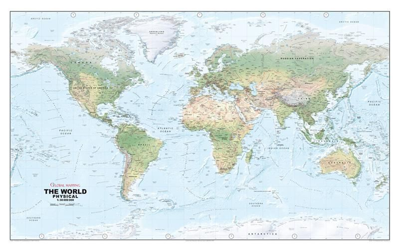 World Physical Wall Map, Large - Global Mapping - Wall Map ... on global accounting, global infrastructure, global manufacturing, global development, global advertising, global statistics, global engineering, global security,