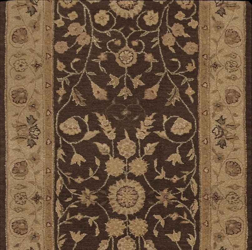 Best Nourison Heritage Hall He05 Brown Traditional Stair Runner 400 x 300