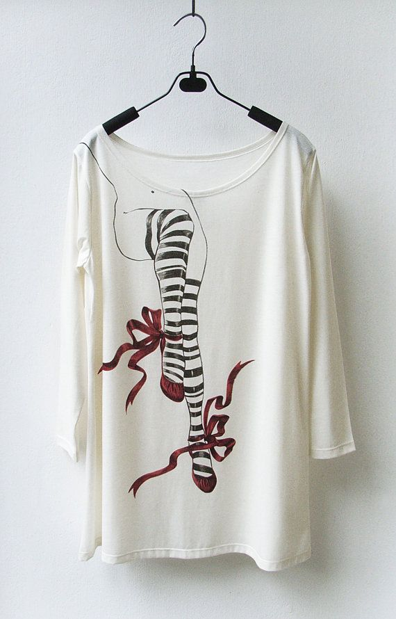 SALE  Red Shoes  Women Long Sleeves Tank Top by InfinitStyle, $19.00