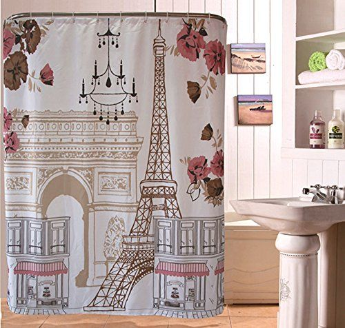 Eiffel Tower Of The Beautiful Of Polyester Fabric Bathroom