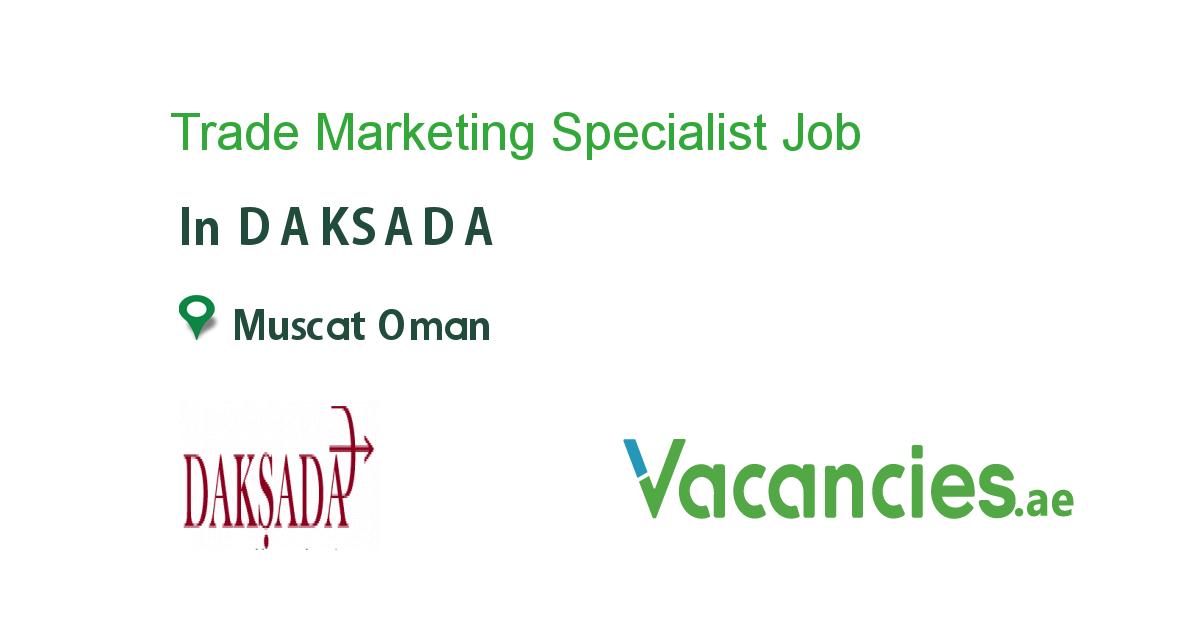 Trade Marketing Specialist Job, Chief financial officer