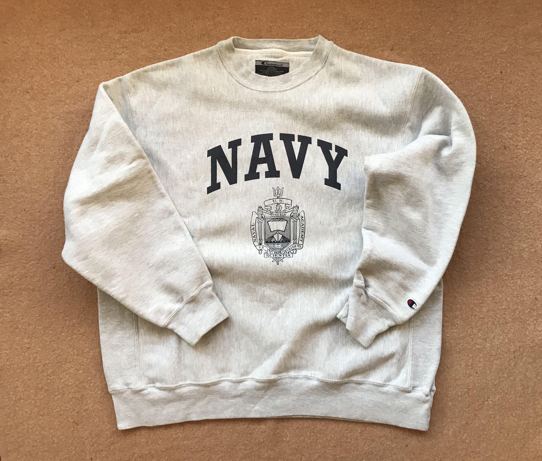 United States Naval Academy Navy Sweatshirt Reverse Weave Etsy Navy Sweatshirts Sweatshirts Navy [ 2250 x 2648 Pixel ]