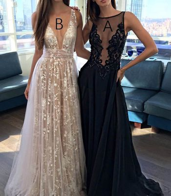 Sexy Black Prom Dress - Beauty Sleeveless Sweep Train with Appliques  Beading e72e2ac87