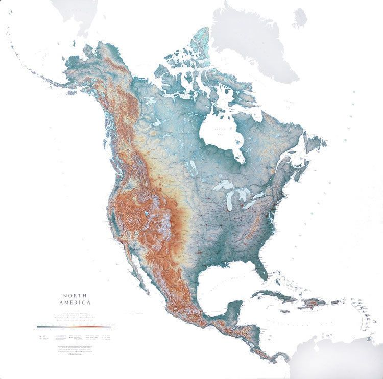 North America wall map by Raven Maps This large detailed map