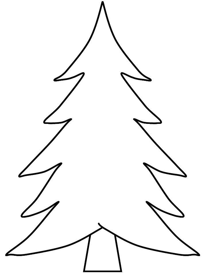 Pix For > Blank Christmas Tree Coloring Christmas tree
