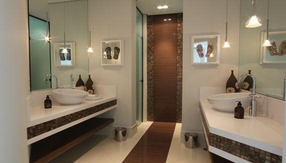 banheiro porcelanato marrom  Banheiro  Pinterest  Porcelanato marrom, Po -> Banheiros Modernos Marrom