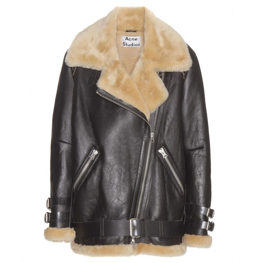 e0c40e3c763b Acne Studios - Velocite shearling-lined leather jacket - Acne Studios   oversize shearling jacket will chase away chills and keep you looking cool.