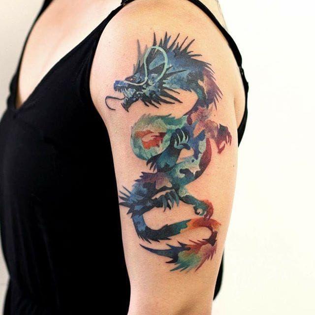 21inkedd Dragon Tattoo By Martynas Snioka Dragon Dragontattoo