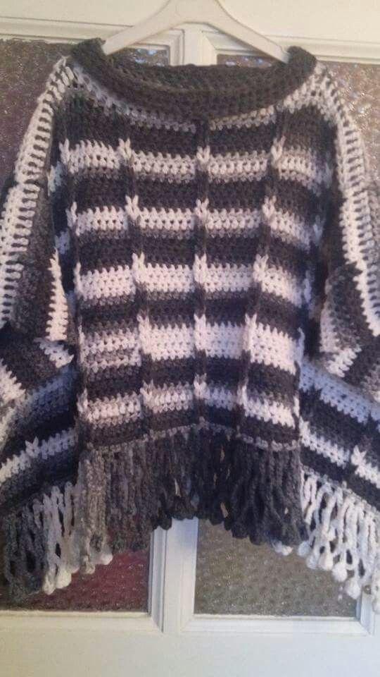 You Tube Vonnes Creaties Poncho Met Jacobs Ladder Haak Crochet