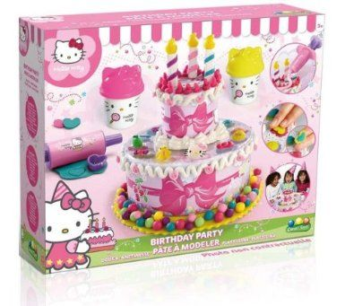 Hello Kitty Happy Birthday Cake Dough Amazoncouk Toys Games