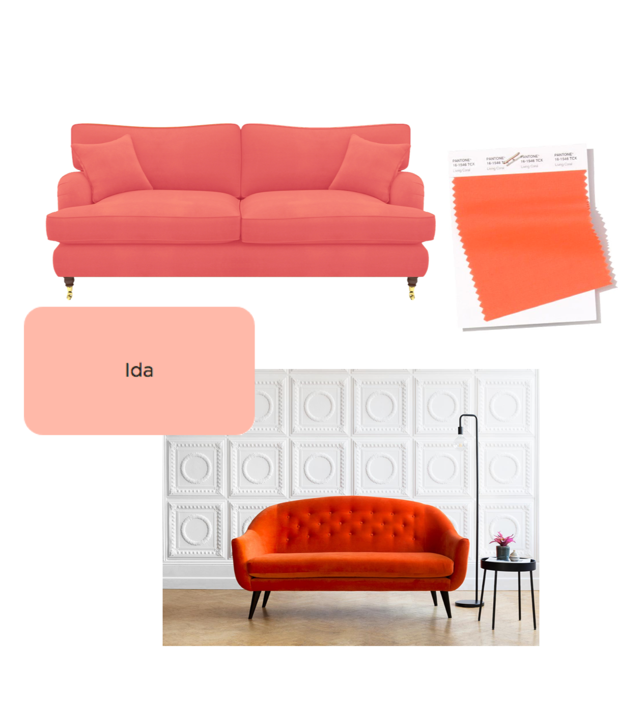 Pantone's Coral By Stuff2019 Colour Of YearLiving Sofasamp; The W2IDYeE9H