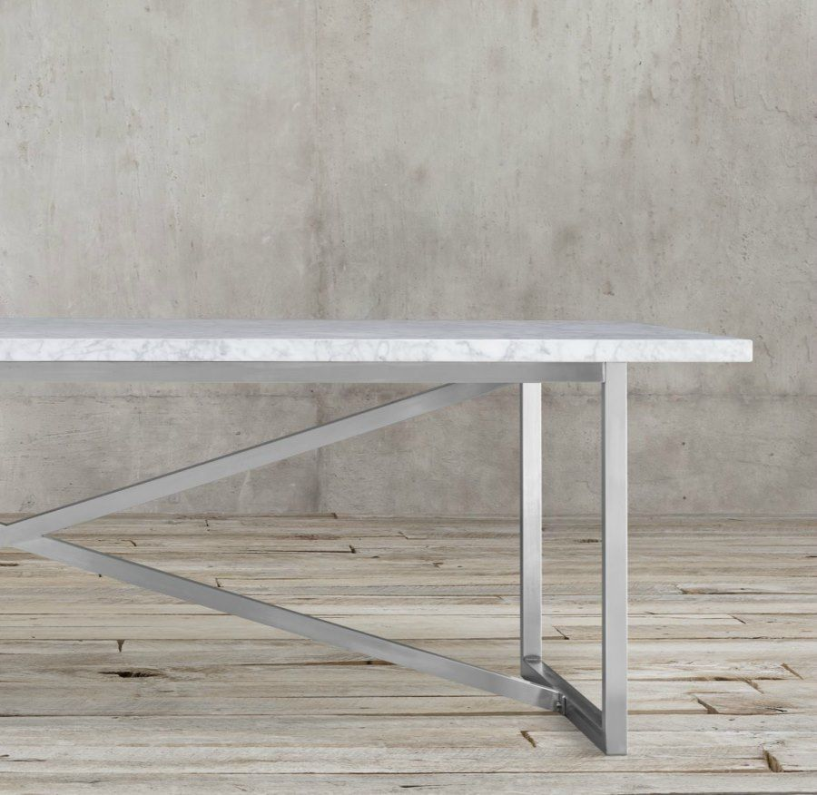 20 Sleek Stainless Steel Dining Tables Dining Table Stainless Steel Dining Table Steel Dining Table