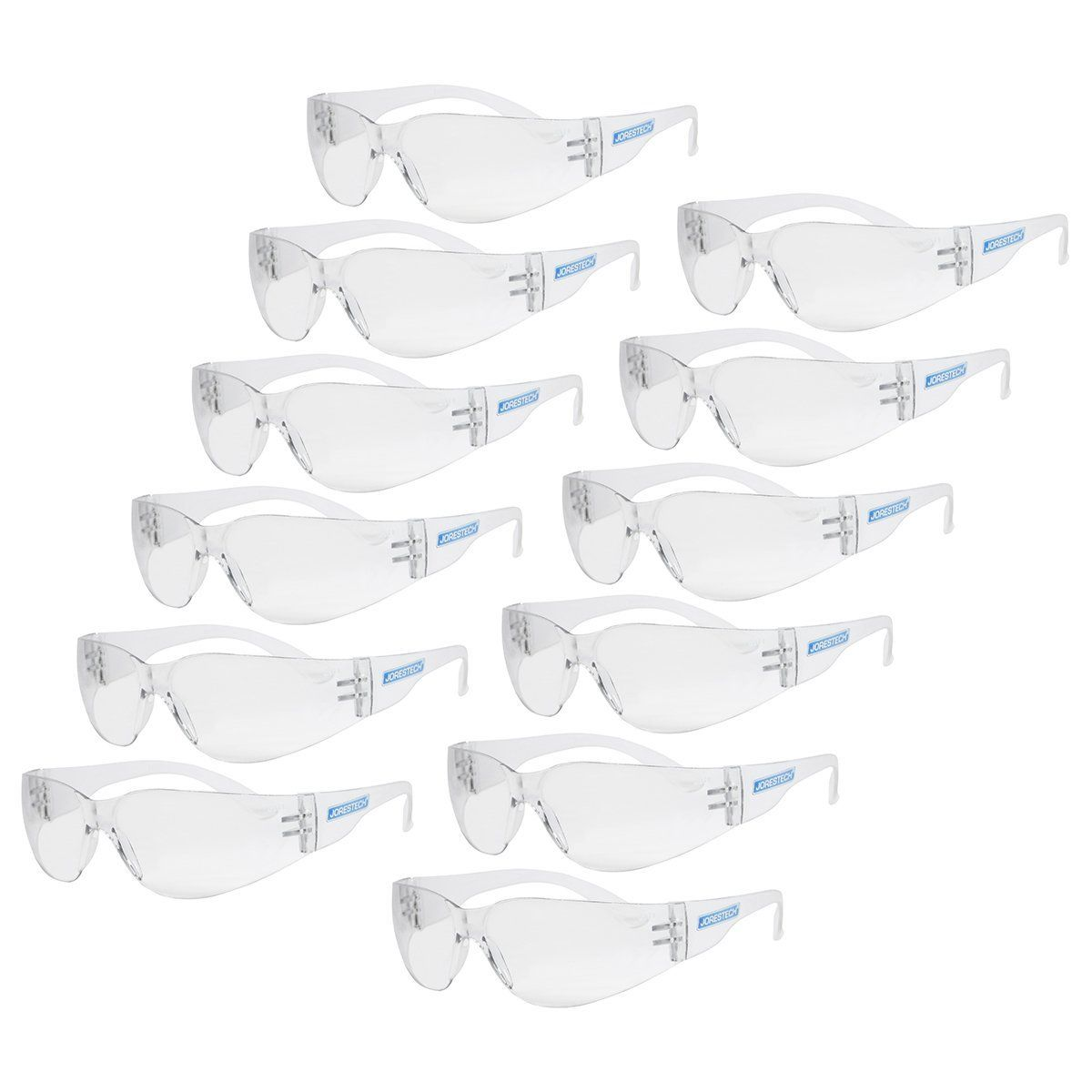 JORESTECH Eyewear Protective Safety Glasses Pack of 12 (Clear) - - Amazon.com