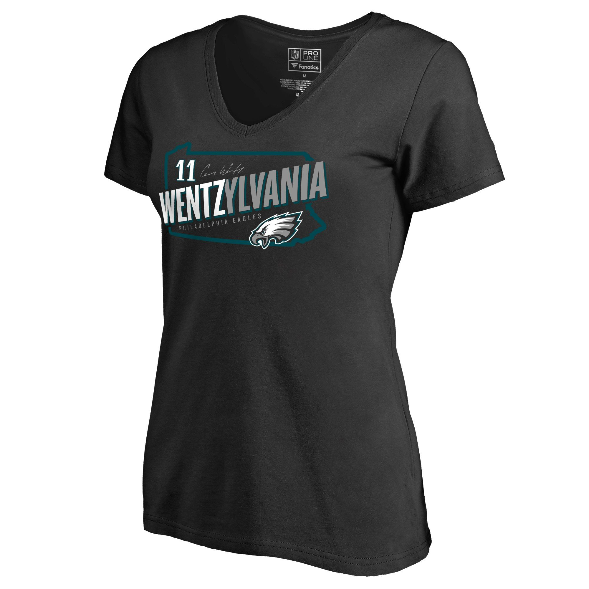 uk availability 7b2d7 ab555 Women's Philadelphia Eagles Carson Wentz NFL Pro Line Black ...
