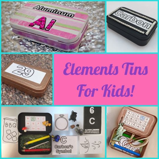 Periodic Table Elements Altoid Tins for Kids Homeschooling - new periodic table chloride symbol
