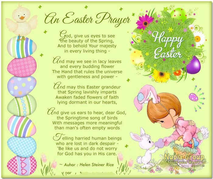 helen steiner rice spring poems | ... Poems With These Best Christian Happy Easter Poems And Prayers Below #happy Easter sayings