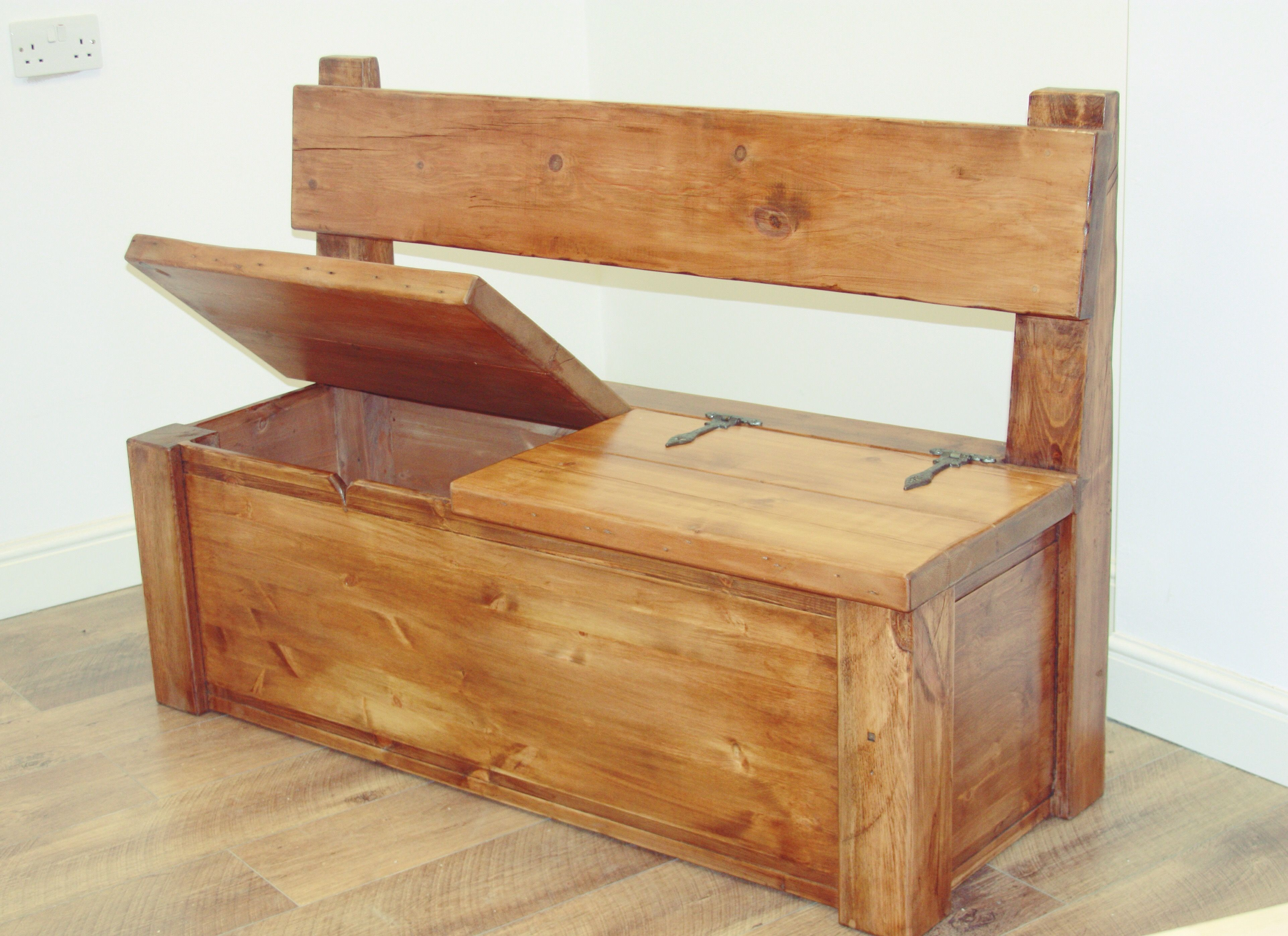 Monk Pew Storage Bench 3