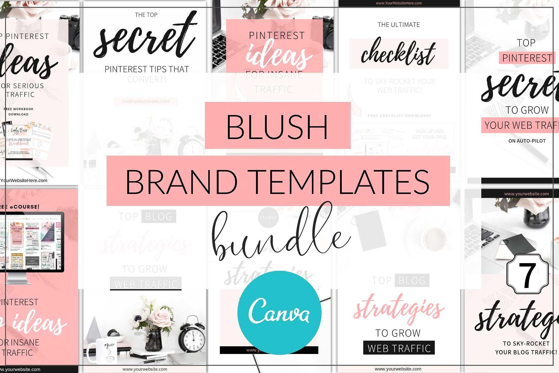 Canva Blush Brand Templates Bundle