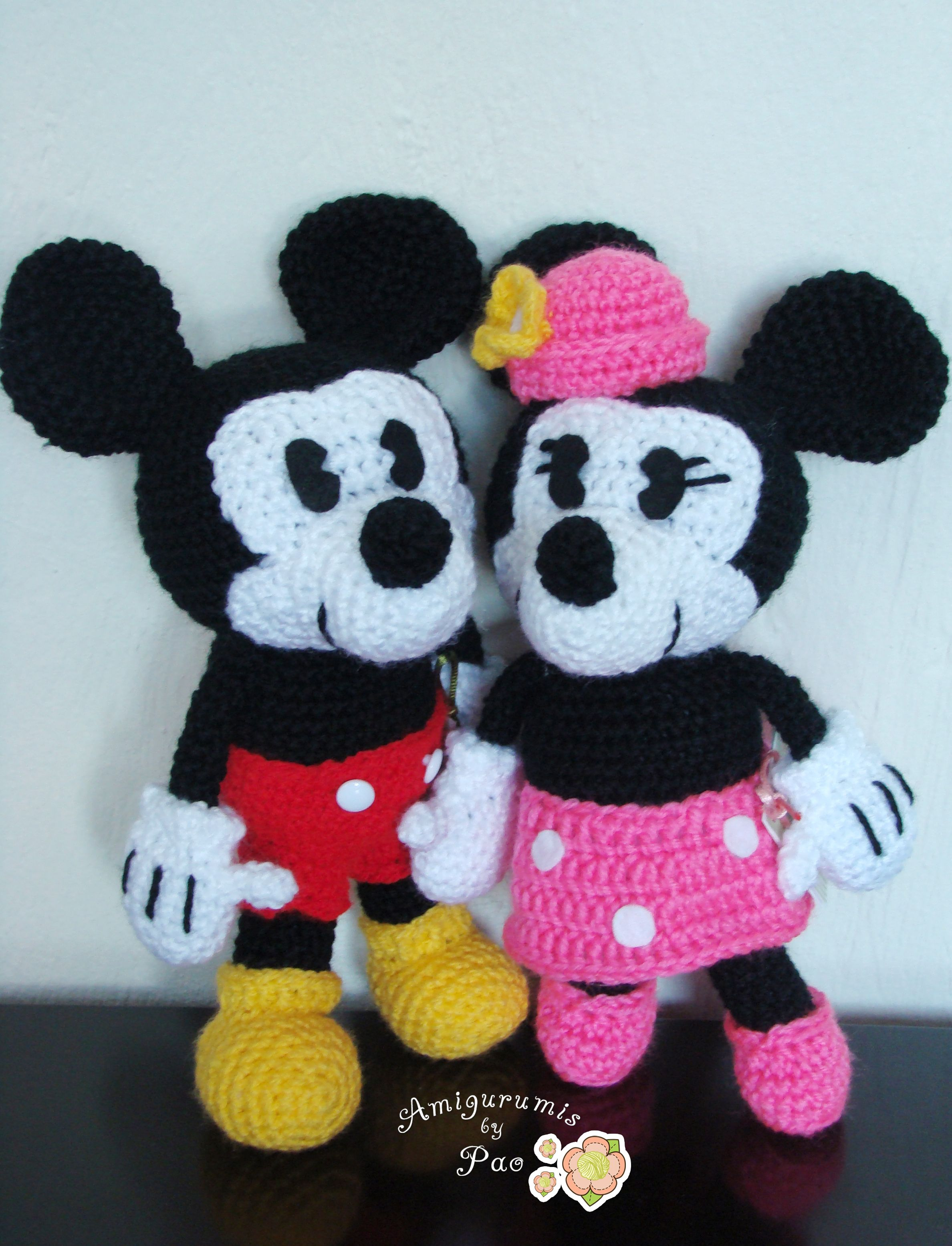 Pack Mickey and Minnie Mouse Amigurumi Pattern | Pinterest ...