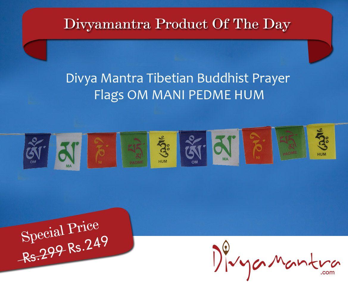 This Tibetan Buddhist Prayer Flag Is Inscribed With Auspicious
