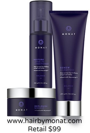 Our Balance System products are designed to work together for brilliance, strength and vitality. www.hairbymonat.com Retail $99  VIP $84