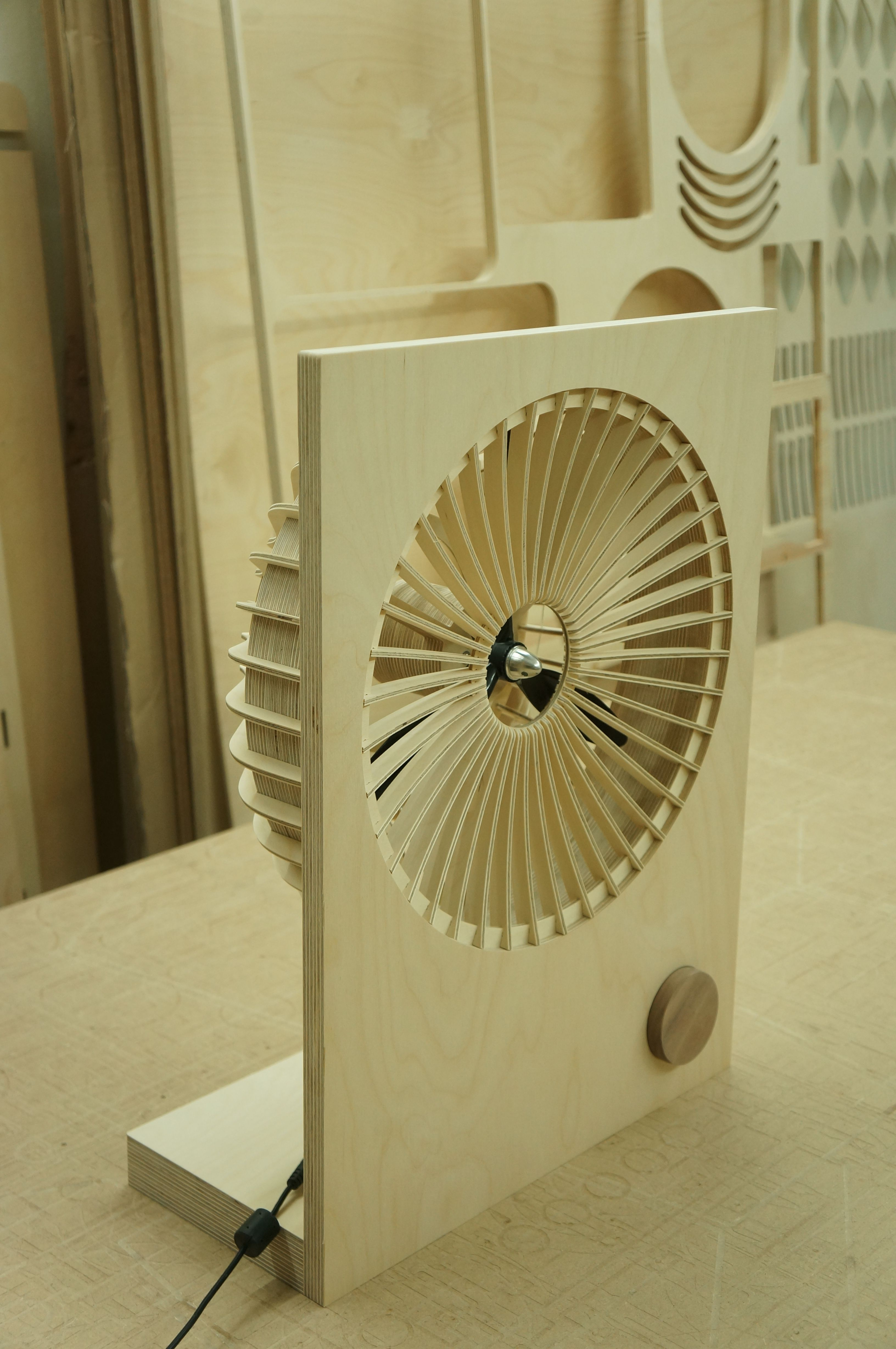 Wooden Electric Fan 4 2 Wood Fan Hot Rods Fan Design Furniture