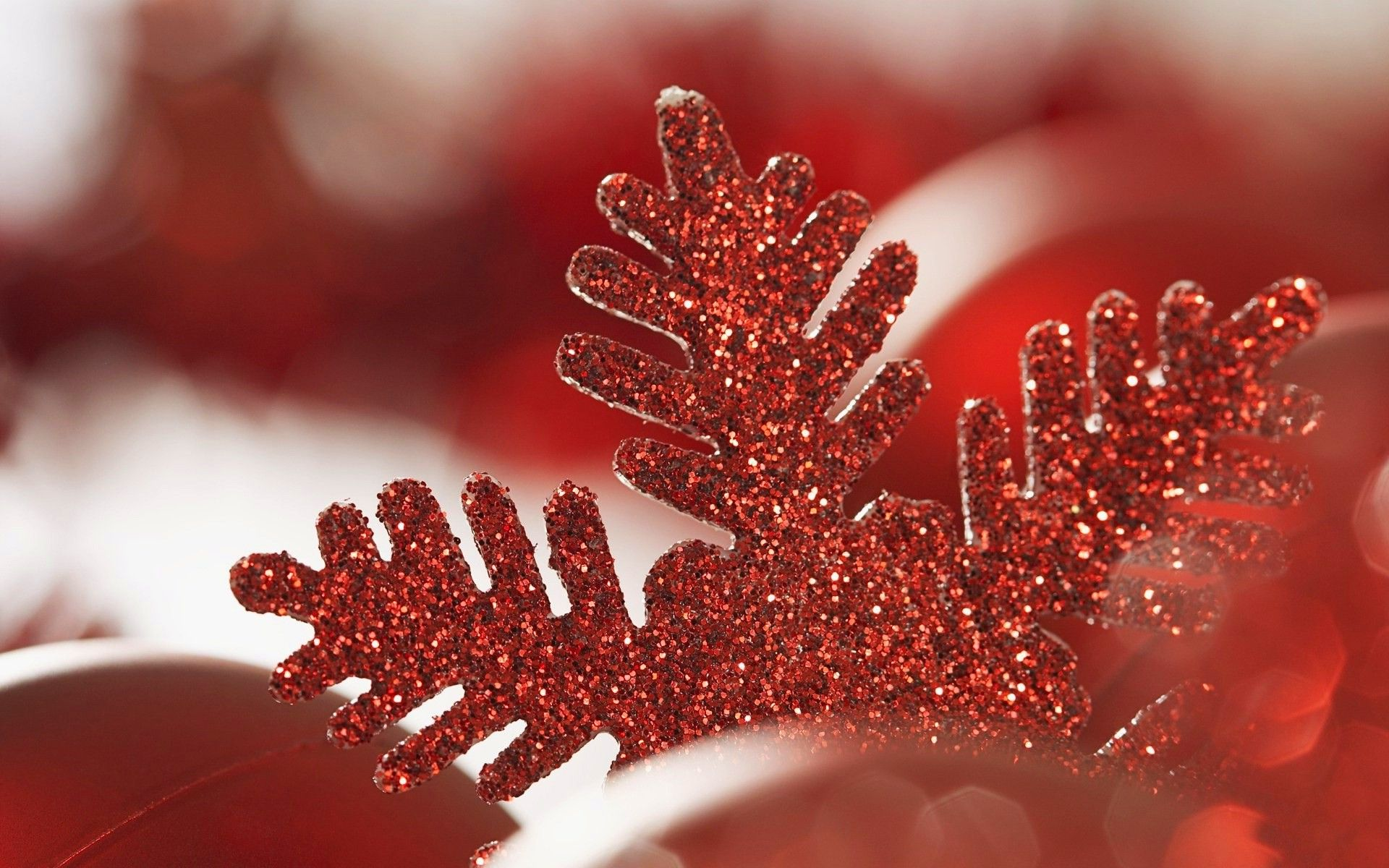 Christmas Glitter Red Decoration Wallpapers 227380