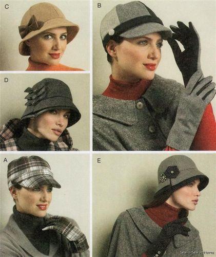 McCalls 6450 SEWING PATTERN Hat Fall/Winter Vintage/Retro Wool Cap ...