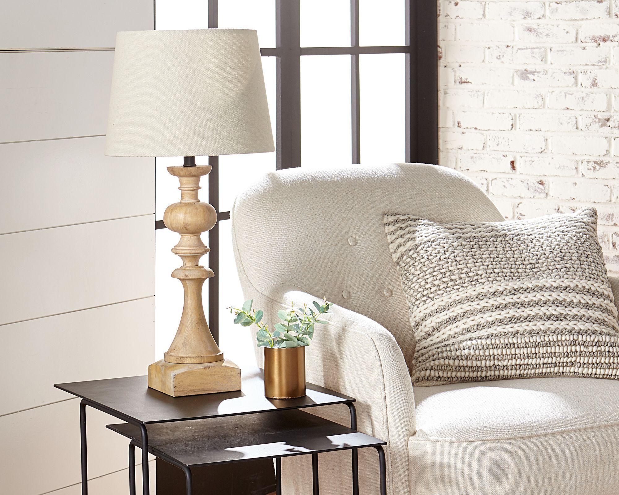 Wood Primitive Table Lamp Magnolia Home Primitive