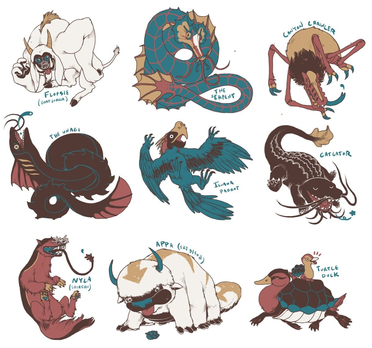 13++ Avatar the last airbender animals images